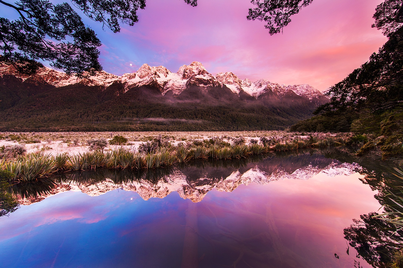 Mirror Lakes - Fiordland National Park, New Zealand