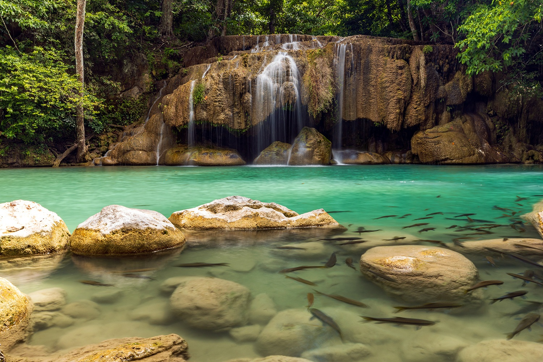 Erawan Falls, Kanchanaburi, Thailand