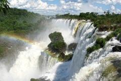 Iguazú Falls, border Argentina-Brazil